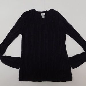 Chico's 3 Purple Crewneck Sweater  Rayon Blend